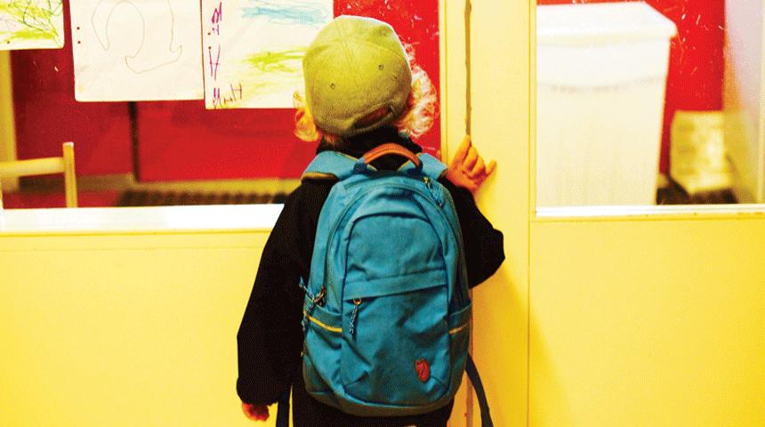 rentrée à l'école maternelle